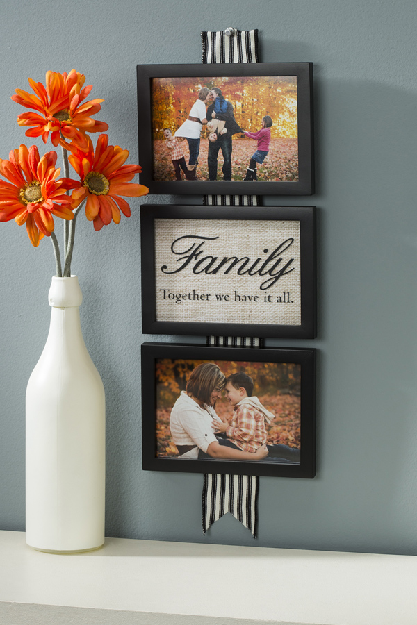 Suspended Frame Collage @craftsavvy @sarahowens #craftwarehouse #frame #decor #diy
