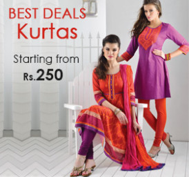 Buy Women's Traditional Finery Kurtas at upto 50% Off  starts from Rs 419 only Via Rangriti:buytoearn