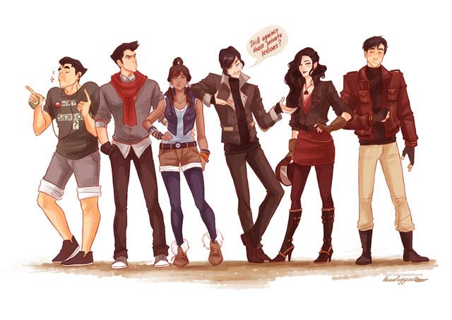 avatar korra teenagers - the legend of korra
