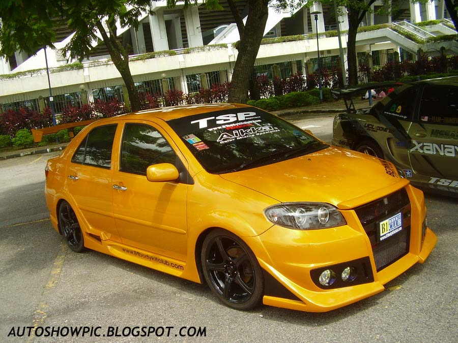 Modified Vios with Custom Bodykit front view