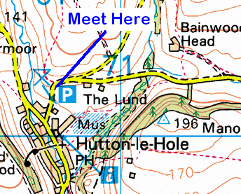 Map of the Hutton-le-Hole area