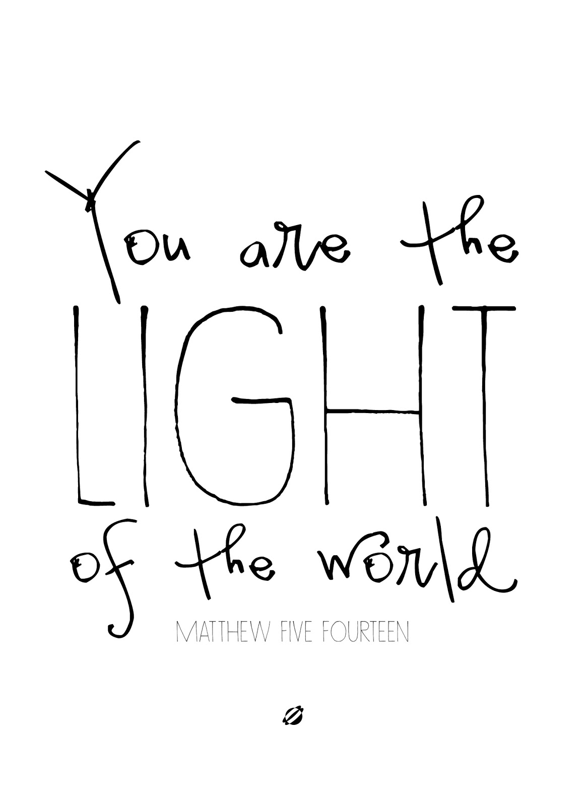 LostBumblebee ©2014 Light of the World Awesome FREE PRINTABLE