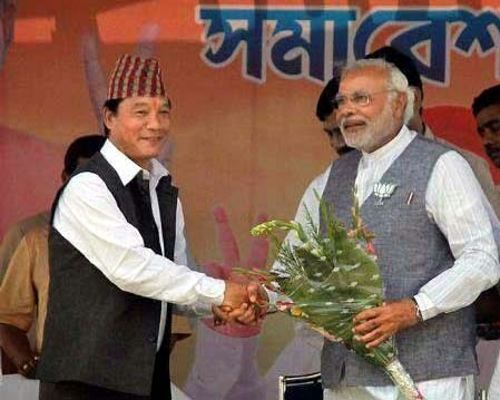 GJM chief Bimal Gurung joins Narendra modi's dinner, PM swearing-in ceremony