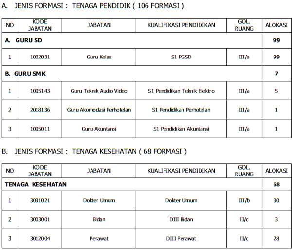 Formasi CPNS Daerah 2013 Pemkot Kota Depok