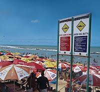 Alertas na praia de Boa Viagem
