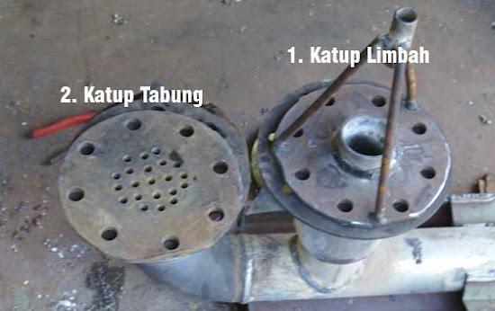 Katup buang dan katup simpan pada bagian pompa hidram