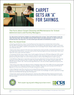 CRI's Carpet Cleaning Facts For School Administrators, Facility Managers