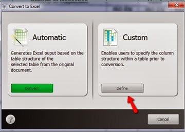 Custom options for Excel conversions