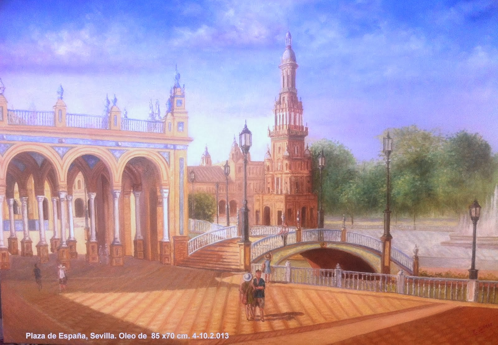Sevilla. Vista parcial de la plaza de España