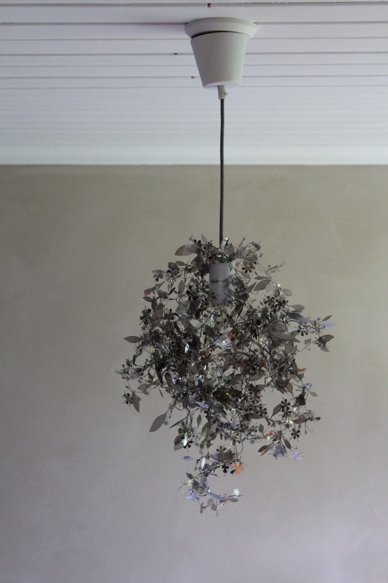 Grey bedroom with Garland pendant