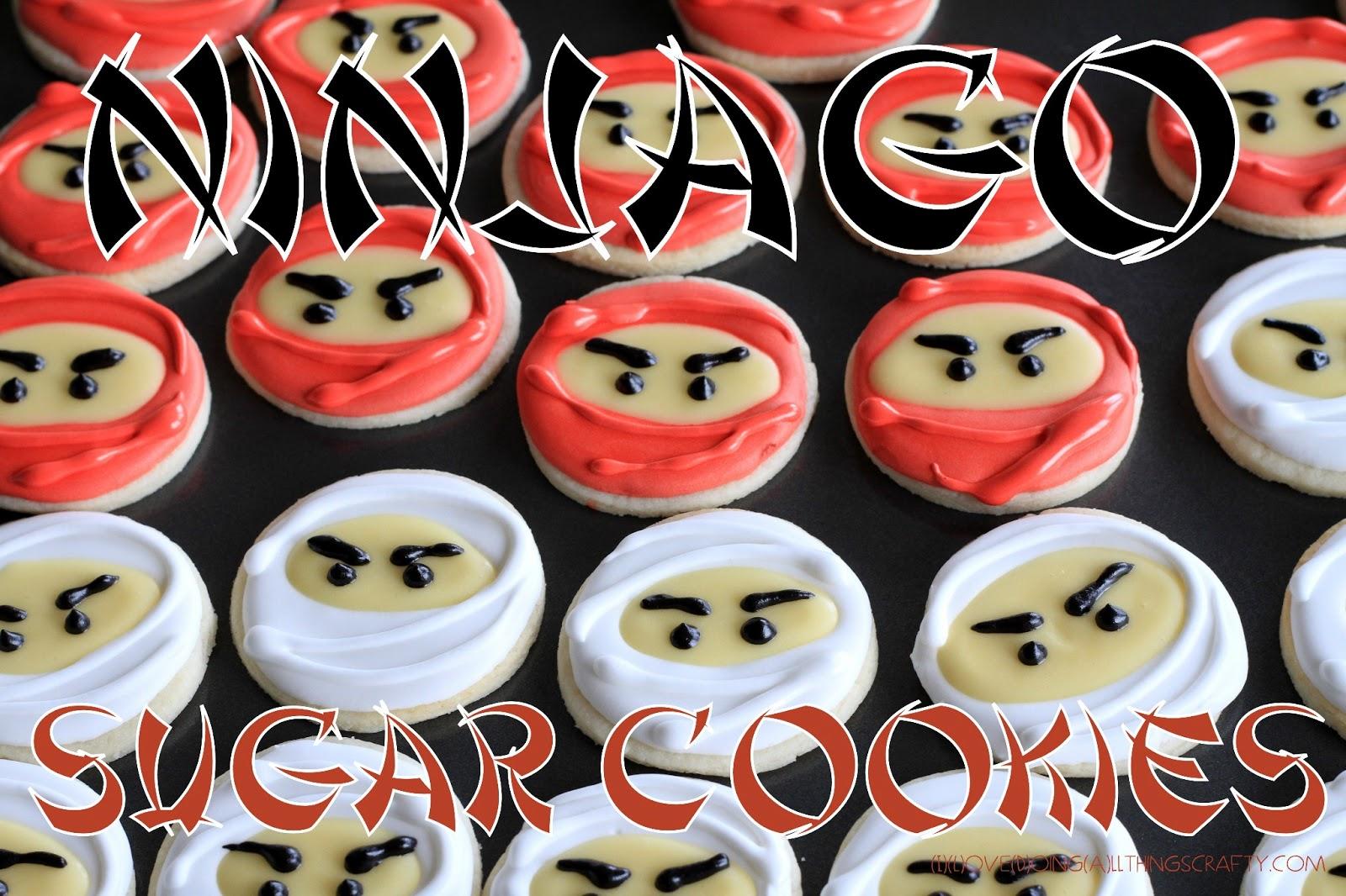 I Love Doing All Things Crafty Ninjago Sugar Cookies