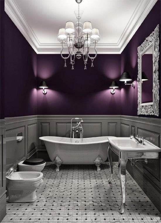 Belle chambre - Purple and silver bathroom ...