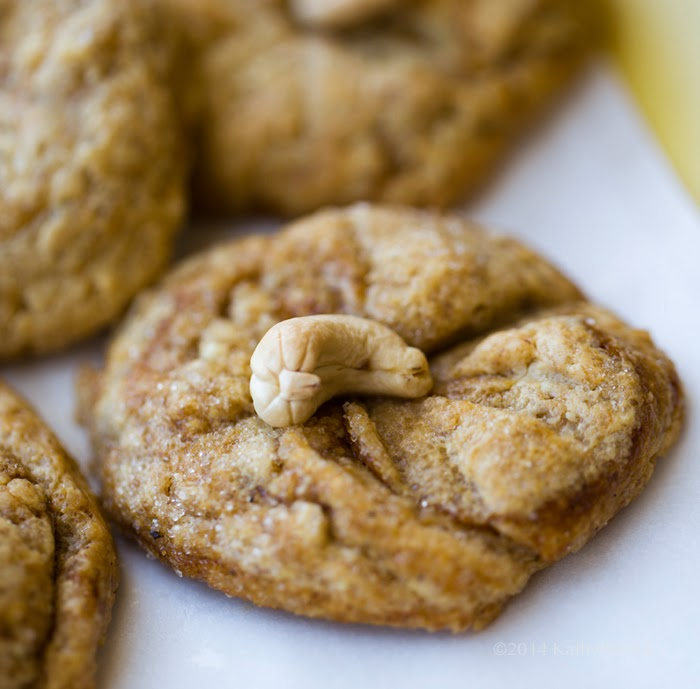 """""""Cashews Just Want to Have Fun"""" Cookies. Warm and Chewy!"""