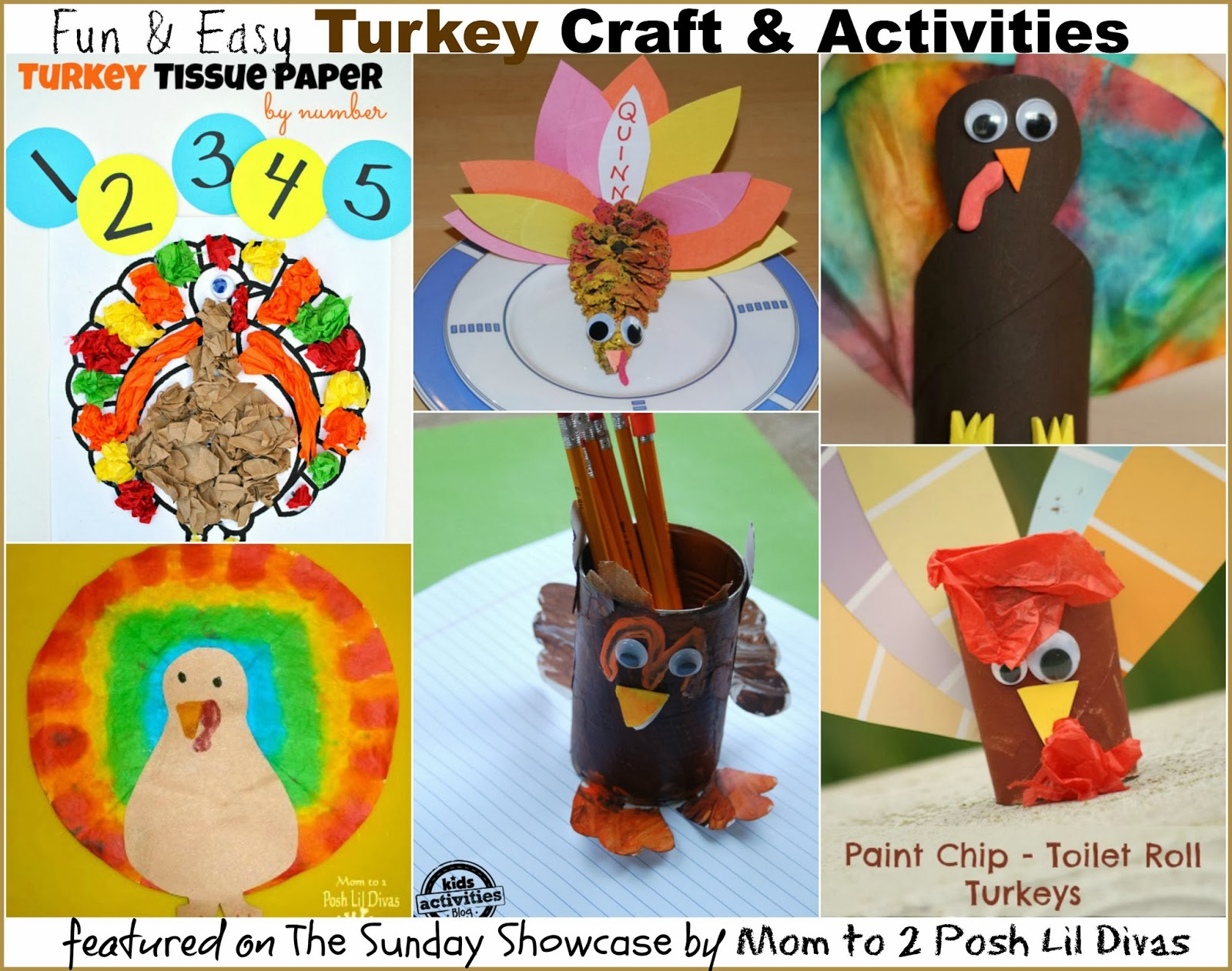 fun kids turkey crafts and activities the sunday showcase 111613 - Pictures Of Turkeys For Kids 2