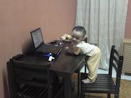 my lovely nephew....rafiq aiman....