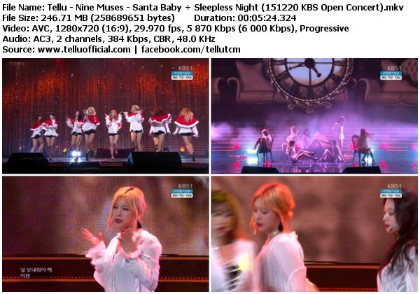 [Perf] Nine Muses – Santa Baby + Sleepless Night (151220 @ KBS Open Concert)
