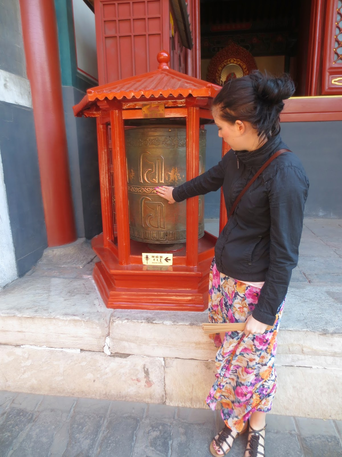 Prayer Wheel at Lama Temple