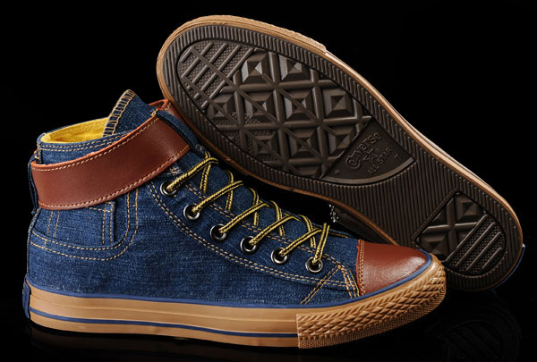 You might have seen denim Converse, but these are full-on blue jeans  inspired hi-tops, right down to their copper grommets, patch pocket,  contrast stitching ... 6bd42bfaacb9