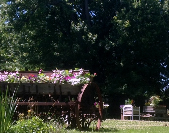 repurposed farm machinery, a planter