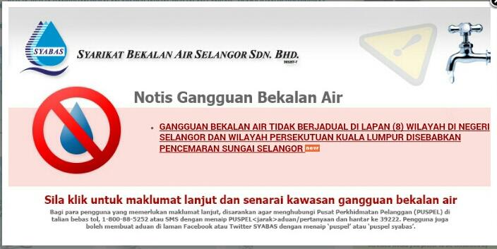 Isu Semasa, Air, Gangguan bekalan Air, Gangguan bekalan Air Tidak berjadual, Gangguan bekalan Air Tidak berjadual menyusahkan rakyat, Konspirasi politik, Selangor dilanda masalah air lagi