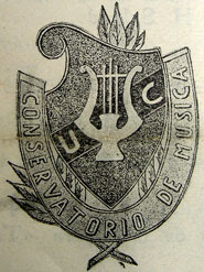 Escudo del Conservatorio (Quito, 1945)