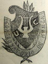 Escudo del Conservatorio (Quito, 1945)