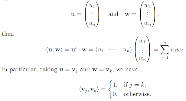 Linear Algebra: #20 Characterizing Orthogonal, Unitary, and Hermitian Matrices equation pic 1