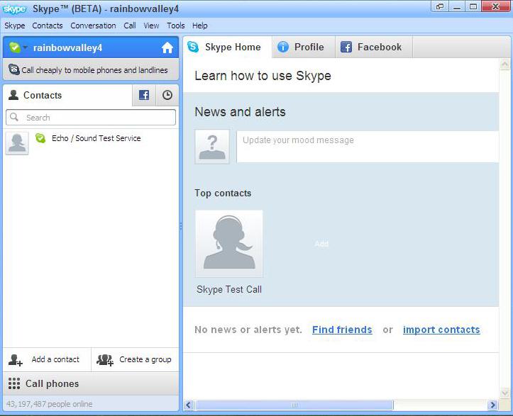 Не работает скайп главная страница недоступна что делать 133