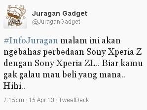 Sony Xperia Z dan Xperia ZL