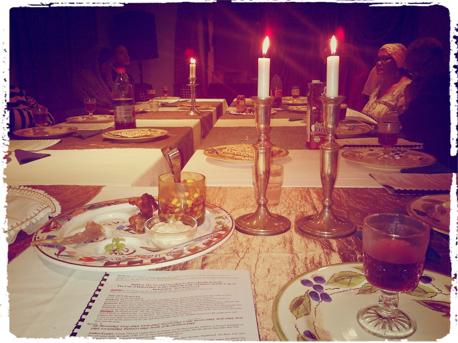 With thankfull hearts we remembered........! Most of all THE Pesach LAMB of Elohim!