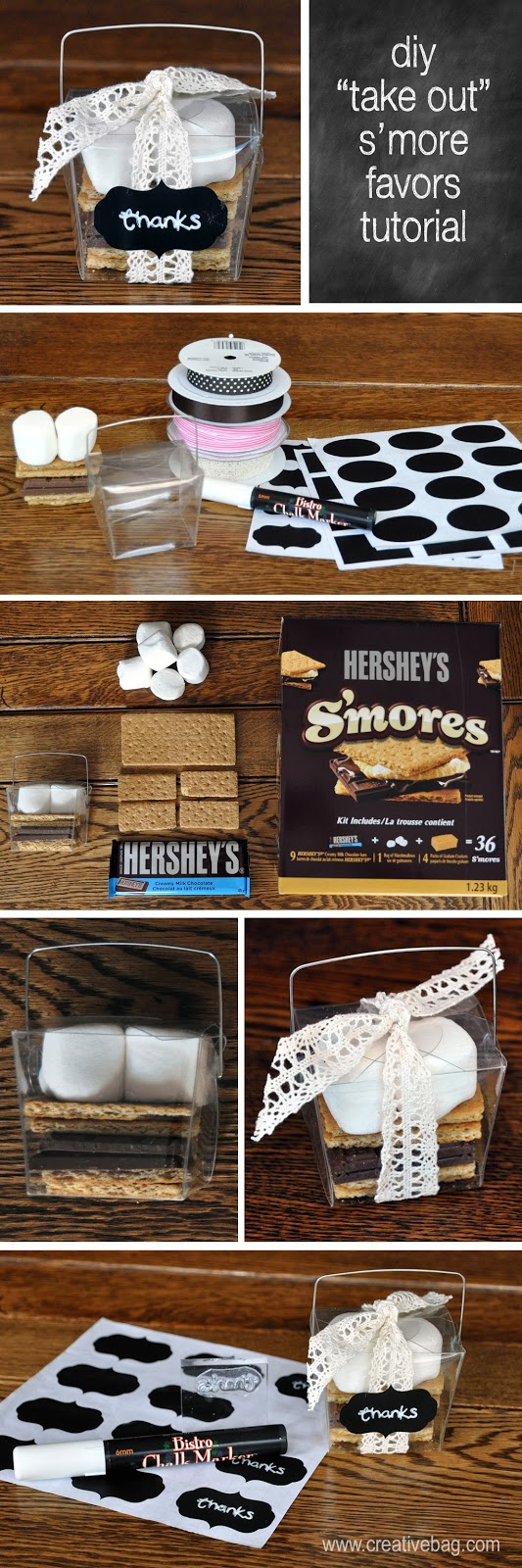 "Lorrie Everitt's diy ""take out box"" s'more favors tutorial"