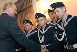 Встреча кадет Иваново-Вознесенского Морского кадетского корпуса с В.В.Путиным