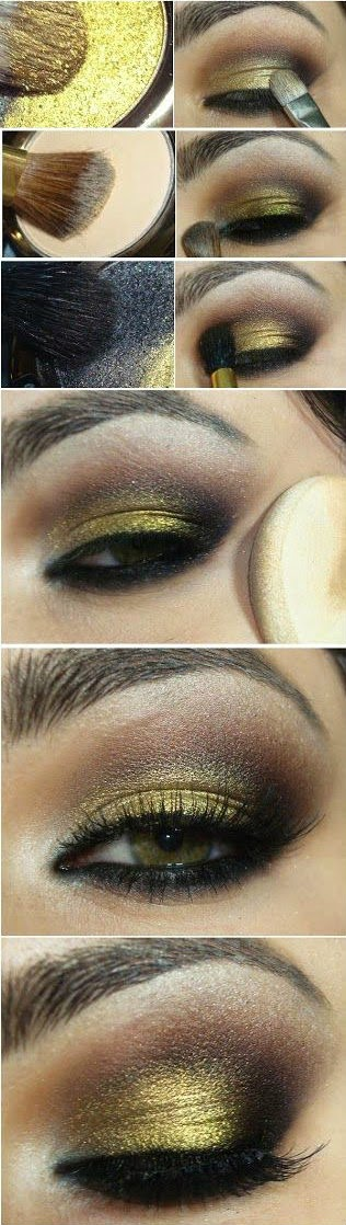 Basic Smoky with Golden AND Brown Makeup Tutorials | Combo perfect for any party and that works on any skin tone.