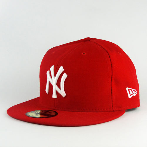 New york yankees red and white custom new era hat 59fifty fitted cap 2