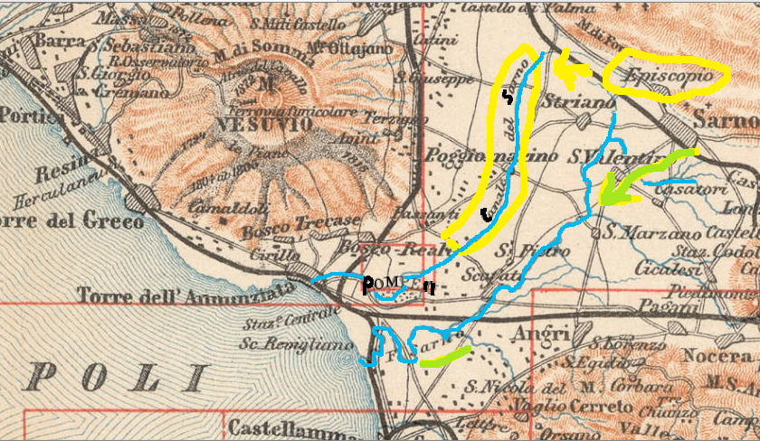 Pompei, bacino fluviale