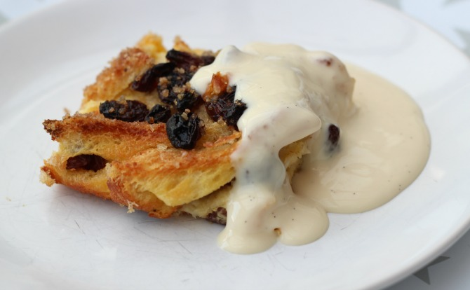 Bread & Butter pudding with Madagascan vanilla custard