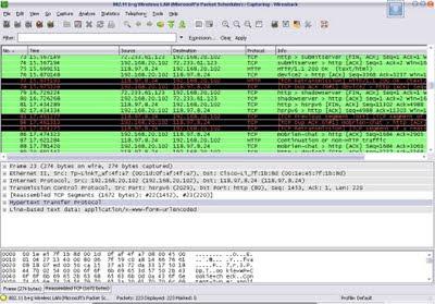 Cara menggunakan wireshark pada modem 2