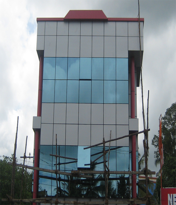 Super Aluminium Glass Structural Glazing Acp Cladding And Glass