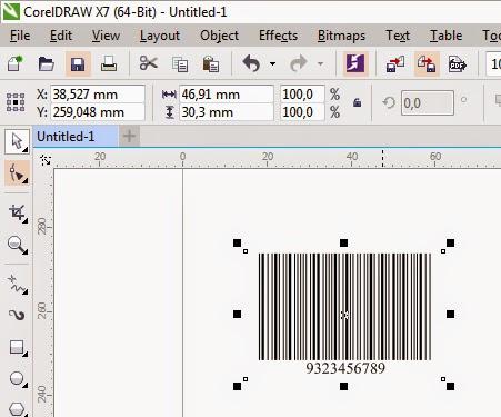 Hasil Akhir Pembuatan Barcode di CorelDraw X7