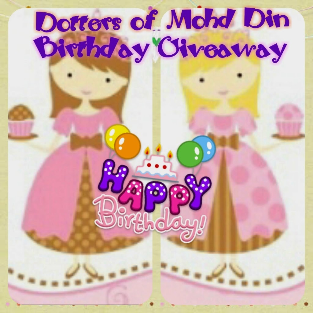 """Dotters of Mohd Din Birthday Giveaway""."