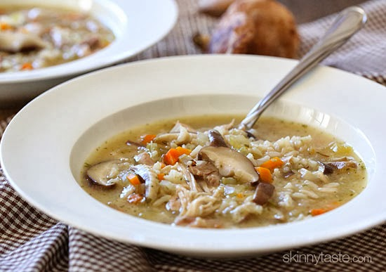 Chicken, wild rice and mushrooms are combined in this rich and hearty ...