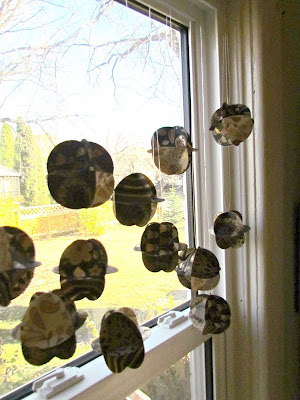 DIY Window Covering, DIY Paper curtain, DIY Mobile, Silhouette Mobile, Paper Globes, Easy Kids Craft