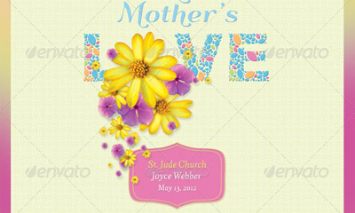 A Mother's Love Flyer, Postcard and CD Template