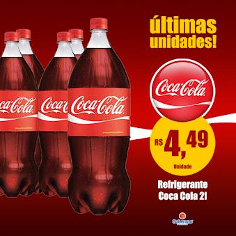 As últimas unidades de Refri Coca-Cola continua nas grandes ofertas do Soberano Supermercado!