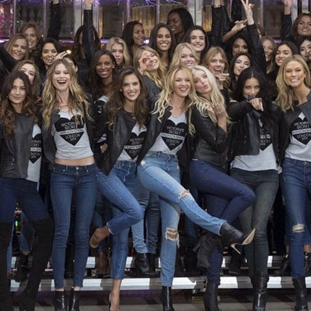 Angels of Victoria's Secret come together in London