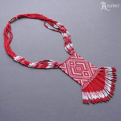 купить заказать украшения из бисера этнические гердан гайтан россия  Anabel