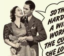 Propaganda machista das Vitaminas PEP em 1950.