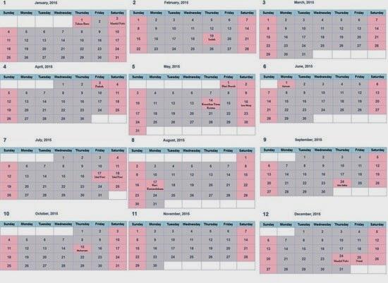 Daftar Hari Besar - Libur Nasional 2015