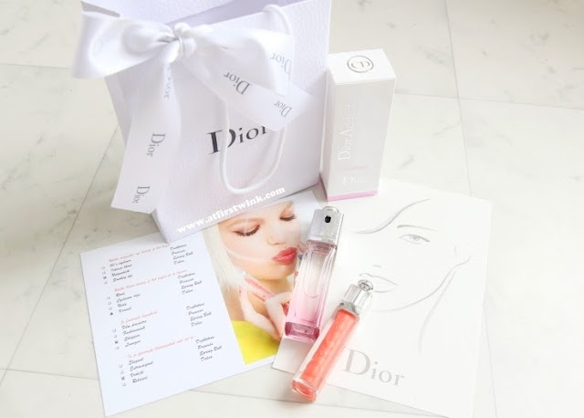 content Dior goodie bag