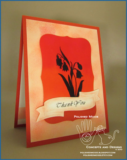 Handmade Floral Thank You Card Clean And Simple Design